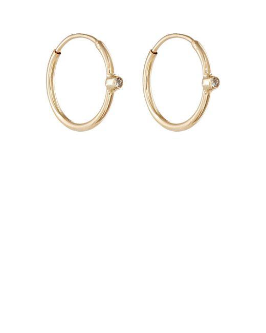 Jennifer Meyer   Metallic White Diamond Hoop Earrings   Lyst