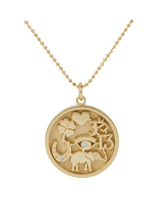 Jennifer Meyer | Metallic Good Luck Charm Pendant Necklace | Lyst