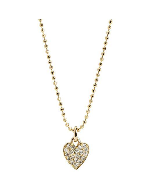 Jennifer Meyer | Metallic Pavé Diamond Heart Pendant Necklace | Lyst