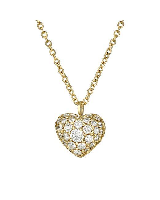 Finn | Metallic Puffed Heart Pendant Necklace | Lyst