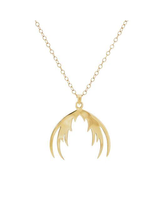 House of Waris - Metallic Plumage Pendant Necklace - Lyst