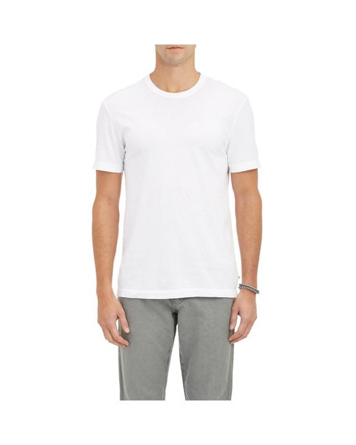 James Perse - White Jersey Crewneck T-shirt for Men - Lyst