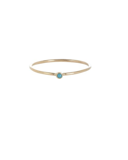 Jennifer Meyer - Multicolor Turquoise Thin Ring - Lyst
