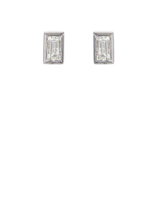 Ileana Makri | Baguette White Diamond Stud Earrings | Lyst
