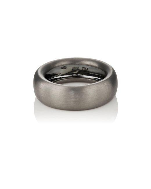 Roberto Marroni | Metallic Oxidized White Gold Ring | Lyst