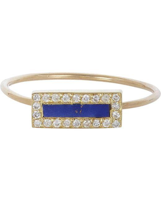 Jennifer Meyer - Blue Rectangle Ring - Lyst