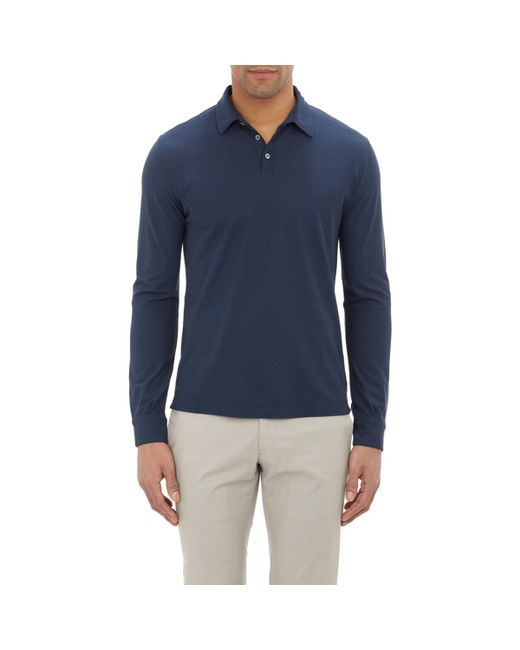 Zanone | Blue Slub Polo Shirt for Men | Lyst