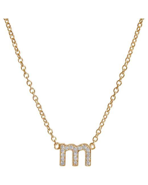 Jennifer Meyer - Metallic Initial Necklace - Lyst