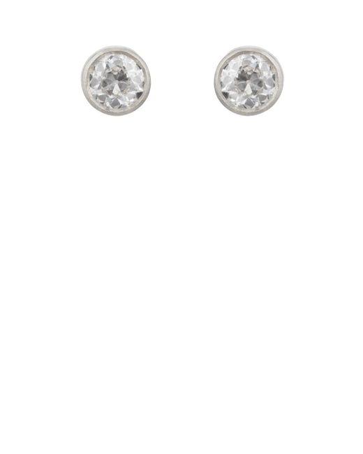 Malcolm Betts - Metallic Diamond Stud Earrings - Lyst