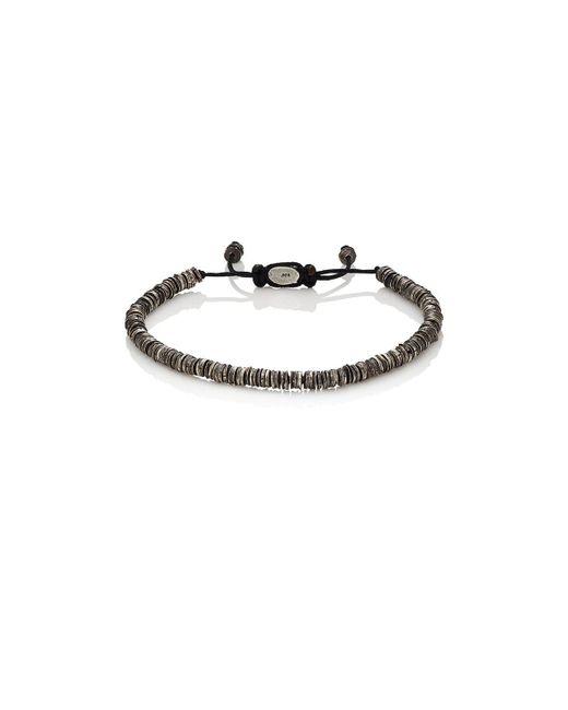 M. Cohen - Metallic Silver Discs On Cord Bracelet - Lyst