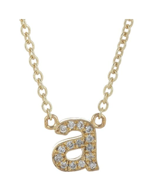 Jennifer Meyer | Metallic Initial Necklace | Lyst
