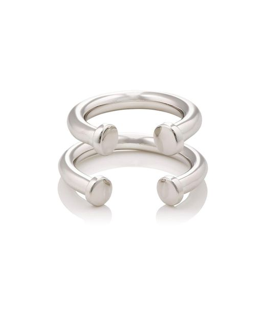 Jennifer Fisher | Metallic Pipe Ring Set | Lyst