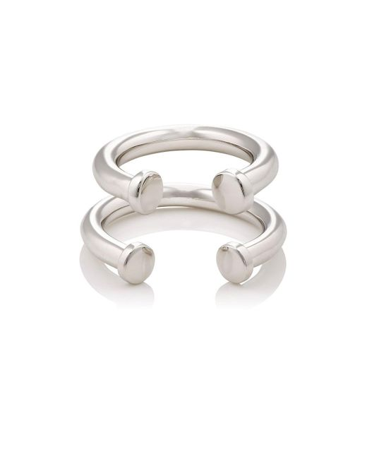 Jennifer Fisher - Metallic Pipe Ring Set - Lyst