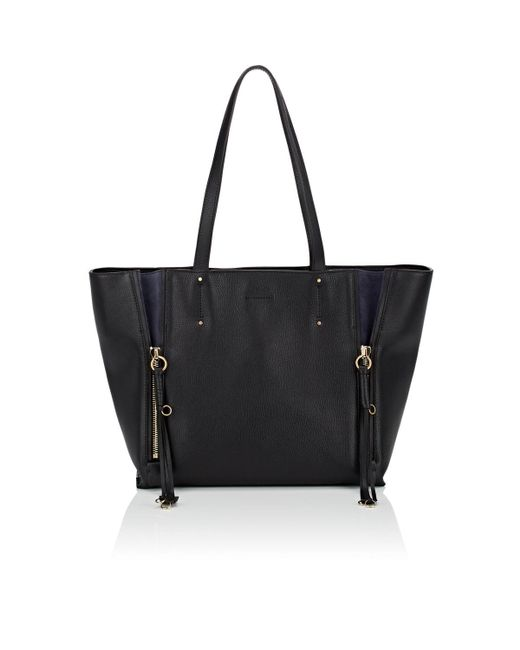 Chloé - Black Milo Medium Leather Tote Bag - Lyst