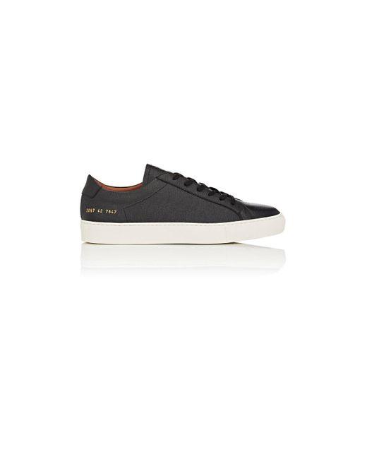 cb5b8ce0d52d Common Projects - Black Achilles Grained Leather Sneakers for Men - Lyst ...