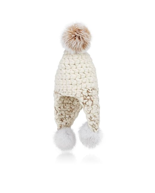 Mischa Lampert - White Triple Trouble Wool Hat - Lyst
