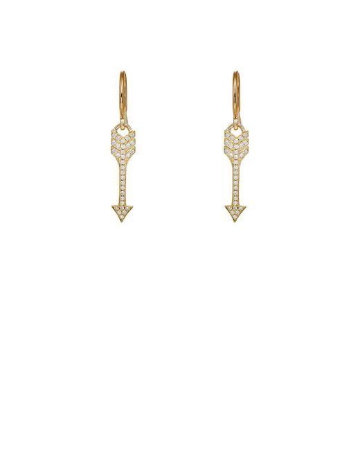 Jennifer Meyer - White Arrow Earrings - Lyst