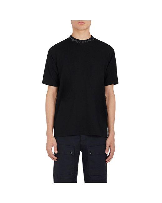 Acne | Black Navid Logo-neckline Jersey T for Men | Lyst