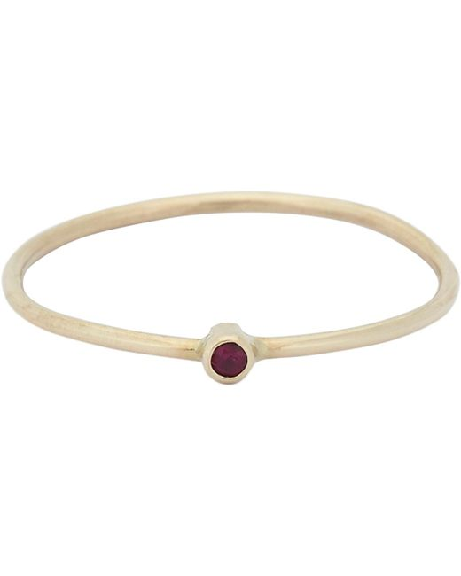Jennifer Meyer - Metallic Gemstone Thin Ring - Lyst