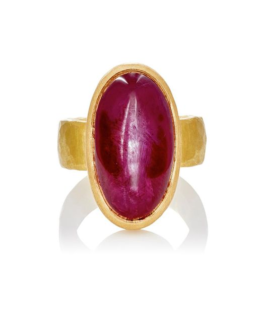 Malcolm Betts - Metallic Ruby Cabochon Ring - Lyst