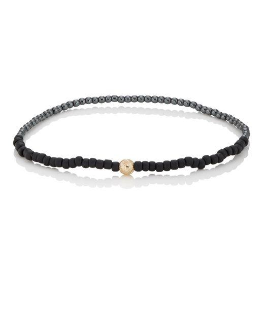 Luis Morais - Black Maltese Cross Beaded Bracelet - Lyst