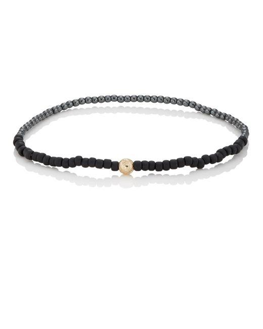Luis Morais - Black Maltese Cross Beaded Bracelet for Men - Lyst