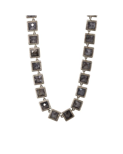 Nak Armstrong - Gray Grey Sapphire Necklace - Lyst