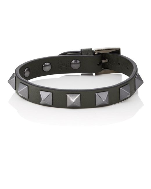 Valentino - Green Rockstud Bracelet for Men - Lyst