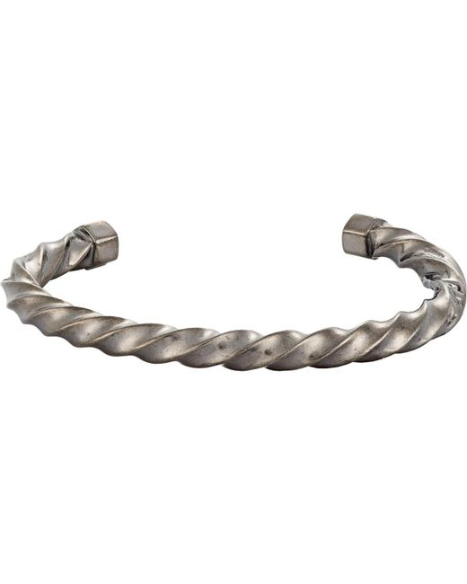 Giles & Brother   Black Twisted Cuff for Men   Lyst