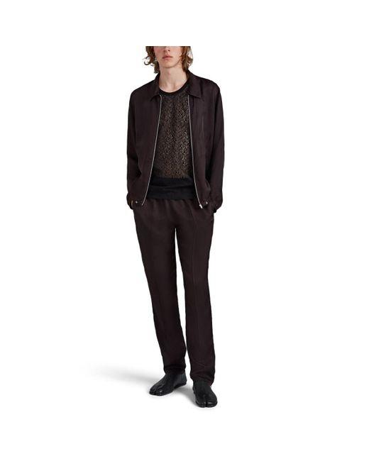 41900aa6e286c ... Helmut Lang - Black Cotton-blend Lace Tank Top for Men - Lyst ...