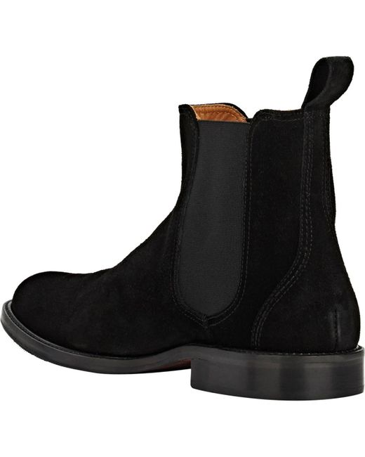 f9ae72f02cea ... Barneys New York - Black Suede Chelsea Boots for Men - Lyst ...