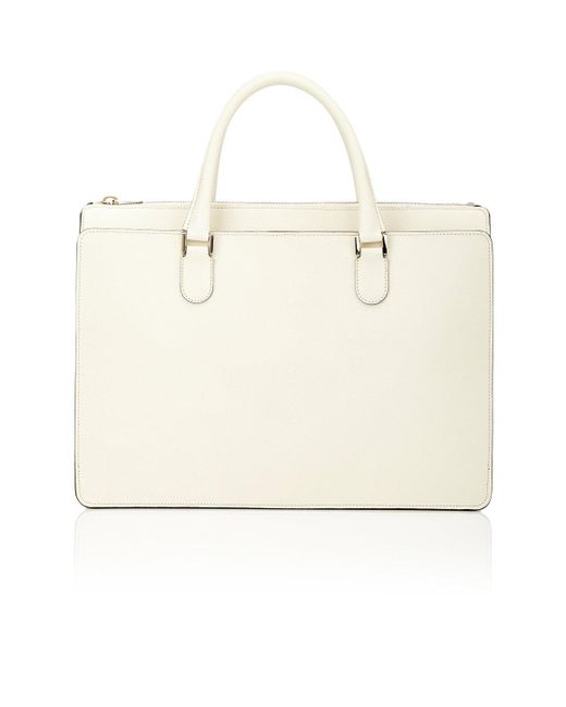Valextra | White Madison Working Bag | Lyst