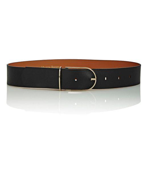Maison Boinet   Black Leather Belt   Lyst