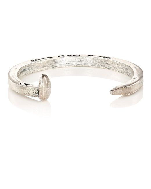 Giles & Brother   Metallic Railroad Spike Cuff for Men   Lyst