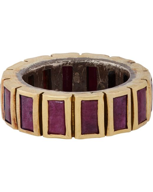 Nak armstrong baguette ring lyst for Nak armstrong wedding ring