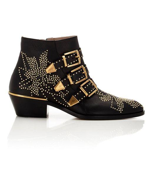 Chloé | Black Suzanna Ankle Boots | Lyst