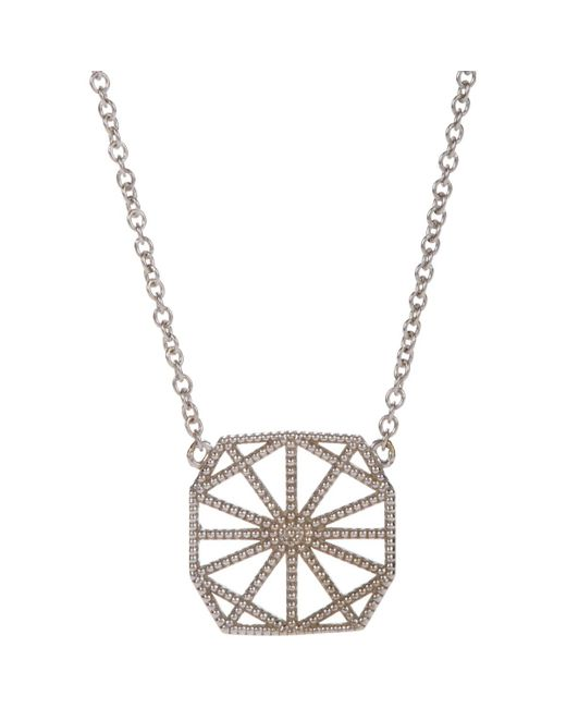 Grace Lee | White Gold Petite Deco Ii Necklace | Lyst
