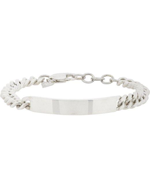 Loren Stewart | Metallic Silver Id Bracelet for Men | Lyst