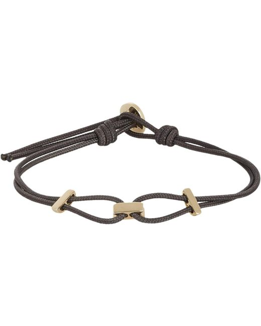 Zadeh | Metallic Gold & Parachute Cord Bracelet for Men | Lyst