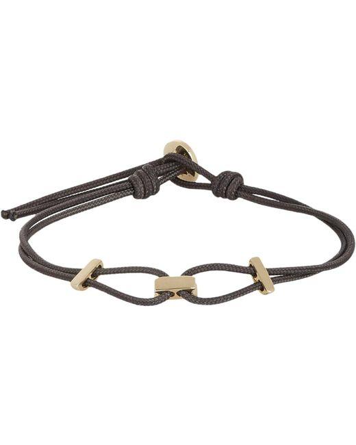 Zadeh | Metallic Gold & Parachute Cord Bracelet for Men | Lyst