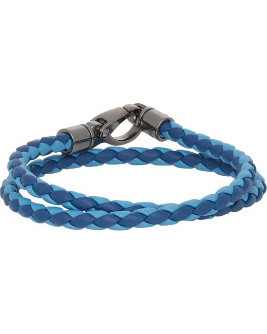 Tod's | Blue Braided Leather Double for Men | Lyst