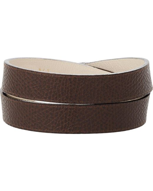 Valextra | Brown Leather Wrap Bracelet for Men | Lyst