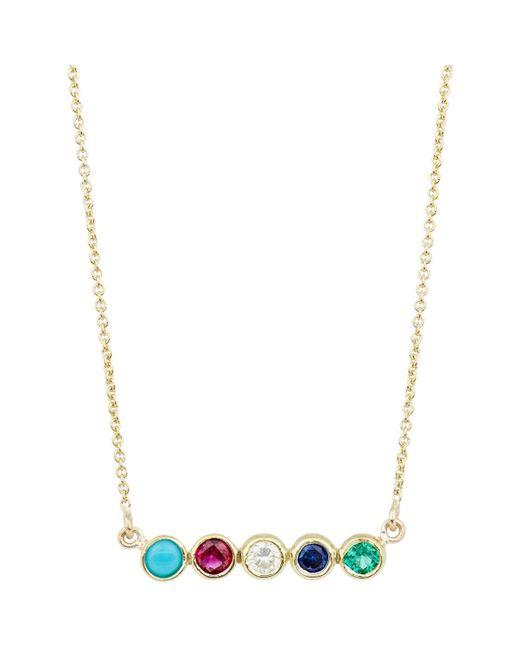 Jennifer Meyer | Metallic Bezel Pendant Necklace | Lyst
