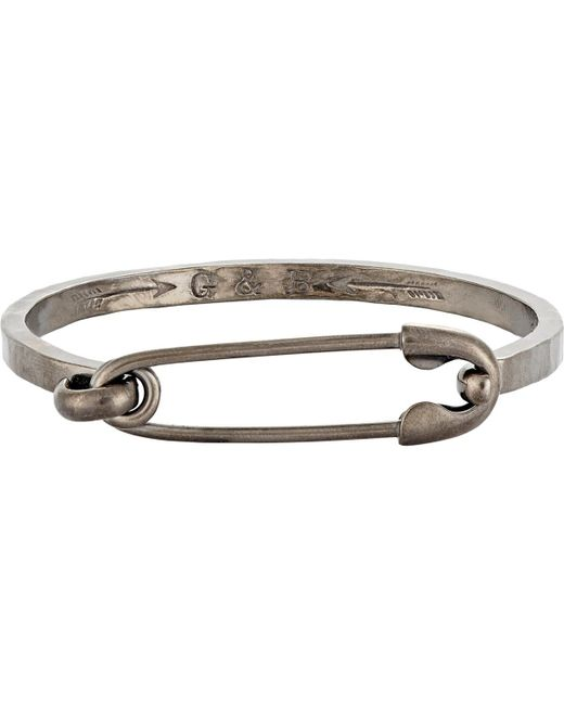 Giles & Brother   Metallic safety Pin Id Cuff Bracelet for Men   Lyst