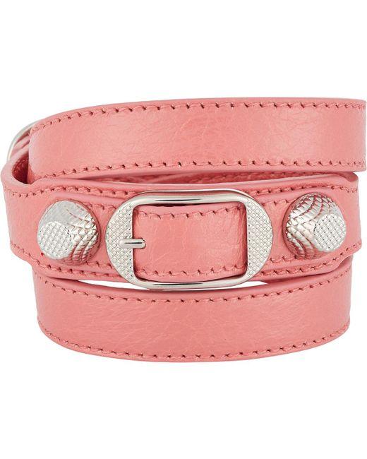 Balenciaga   Pink Arena Giant Double Tour Bracelet   Lyst
