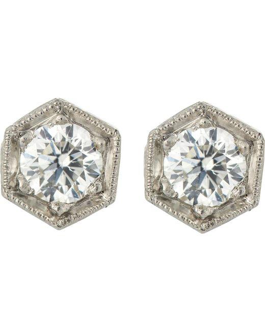 Cathy Waterman | Metallic Hexagonal Studs | Lyst