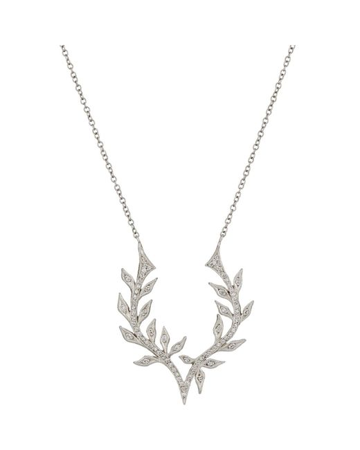 Cathy Waterman | Metallic Wheat Antler Pendant Necklace | Lyst