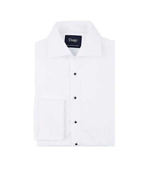 Drake's | White Piqué Dress Shirt for Men | Lyst