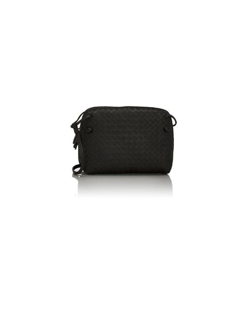 Bottega Veneta | Black Intrecciato Double Messenger | Lyst