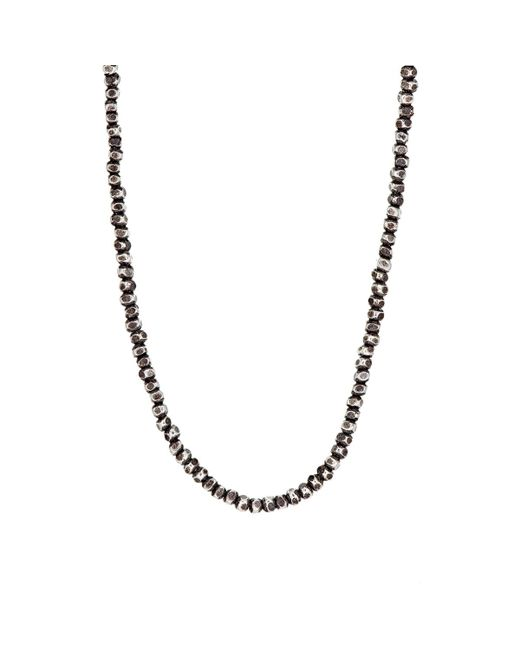 M. Cohen | Gray Beaded Necklace for Men | Lyst
